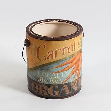 Carrots Ceramic Pail, Large, 6.7