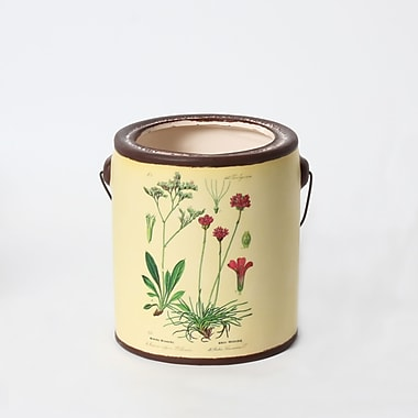 Plant And Red Flower Ceramic Pail (2682-TX6419-00)
