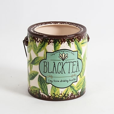 Seau en céramique pour thé noir « Black Tea », 5,5 x 5,5 x 6,3 po, 2/paquet (2682-WX1145-00)