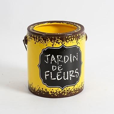 Seau en céramique Jardin de fleurs, grand, 5,8 x 5,8 x 6,1 po, jaune, 2/paquet (2682-WX1148-0L)
