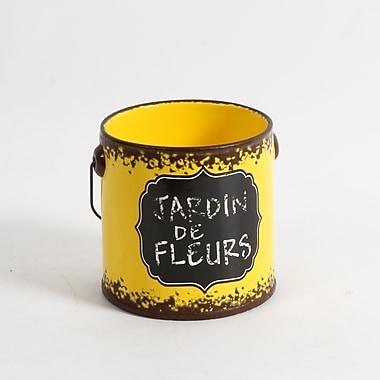 Seau en céramique Jardin de fleurs, petit, 4,8 x 4,8 x 5 po, jaune, 4/paquet (2682-WX1149-0S)