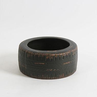 Pot en céramique en forme de pneu, grand, 7,5 x 7,5 x 3,5 po, 2/paquet (2682-WX1161-0L)