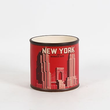 Pot en céramique rond, New York, 5,5 x 5,5 x 5,3 po, 4/paquet (2683-WX3472-0L)