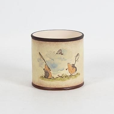 Hedgehogs Ceramic Round Pot, 5.3