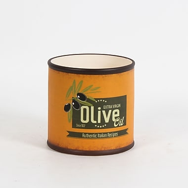 Pot rond, « Olive Oil », 5,3 x 5,3 x 5 po, orange, 4/paquet (2683-WX3498-0L)