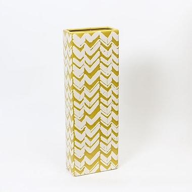 Ceramic Lemon Yellow Tall Vase, Small, 6.7