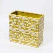 "Ceramic Lemon Yellow Wide Vase, Large, 10.6"" x 5.1"" x 9.8"" (2877-TX5606-0L)"