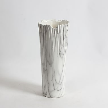 Vase en céramique style marbre Halys 12,5 haut. (po), 2/paquet (2929-WX3036-00)