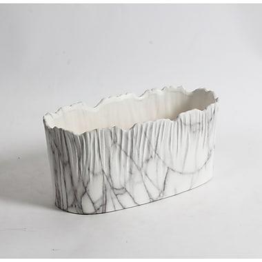 10.25L Halys Oval Marble Look Ceramic Pot, 2/Pack (2929-WX3037-00)