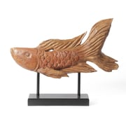 "Polyresin Wood Look Fish With Metal Stand, 21.3"" x 3.9"" x 17.1"" (3548-TX8151-00)"