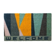 """Welcome Bl & Yl Mat, 31"""" x 18.5"""" x 2"""", 2/Pack (4222-WX3721-00)"""