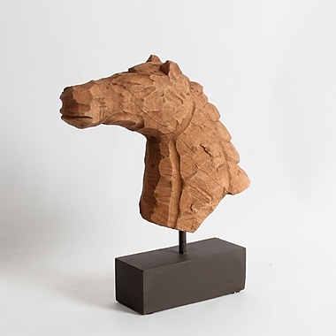 Mango Wood Horse Bust T. Decor, 15.5