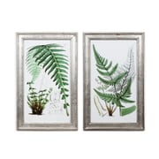 "Leaves Wall Printing with Frame S/2, 16.5"" x 1"" x 26.5"" (701B-WX2852-S2)"