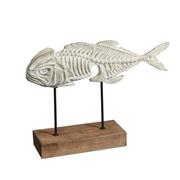 "Long Fish Fossil Table Decor, 15.8"" x 3.9"" x 11"" (7168-TX5438-00)"