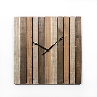 Wooden Strip Wall Clock 36
