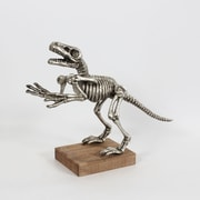 "Silver T. Rex Decor with Base, 20.3"" x 6.7"" x 15.5"" (7168-WX1345-SI)"