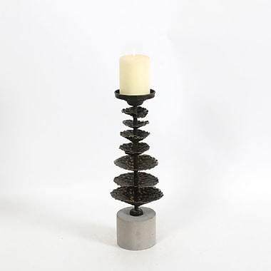 Metal Lotus Stand Candle Holder, Medium, 5.1