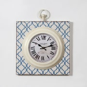 "Ercole Metal And Mdf Wall Clock 15.75"" x 2.56"" x 19.29"" (7199-TX6579-CK)"