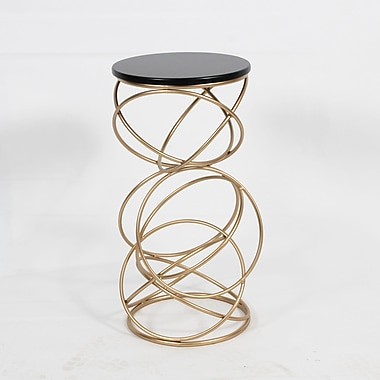 Table d?appoint ronde avec une base en cercles multiples (7321-WX2209-00)