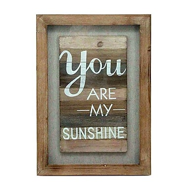 You Are My Sunshine Wooden Wall Plaque, 15.75