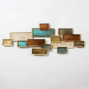 "Multi Color In Rectangle Metal Wall Decor, 47.24"" x 2.36"" x 18.31"" (7808-TX5655-00)"