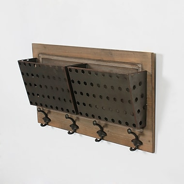 Ashley Wall Decor with Baskets/Hooks, 24