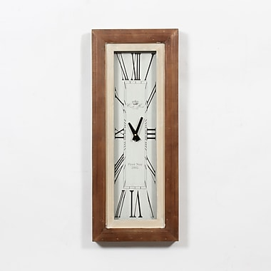 Iris Rect Wooded Wall Clock 11