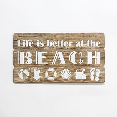 Life Is Better At The Beach Wall Plaque, 22.05