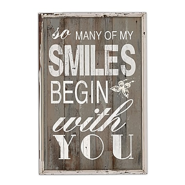 Smiles Begin With You Wall Plaque, 18