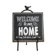 "Welcome To Our Home Plaque with Stand , 7"" x 5.5"" x 10.3"", 2/Pack (9044-WX1425-00)"