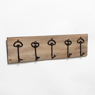 Tableau avec cinq crochets en métal en forme de clés (9277-TX7758-00)