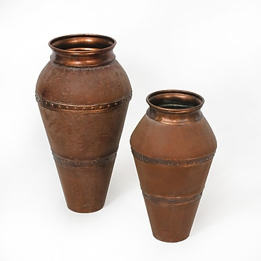 Corabella Metal Vase S/2, Rustic (9423-WX2742-S2)