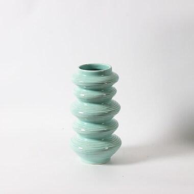 Adkinson ? Long vase en céramique, bleu (9668-TX6326-00)