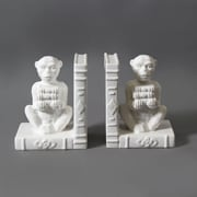 "Ceramic Monkey Bookend, 10.43"" x 3.98"" x 6.69"", 2/Pack (9668-TX6370-S2)"