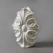 Curly Ceramic Vase, White