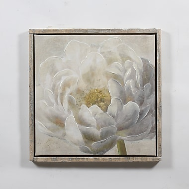 White Blossom Canvas with Frame, 24