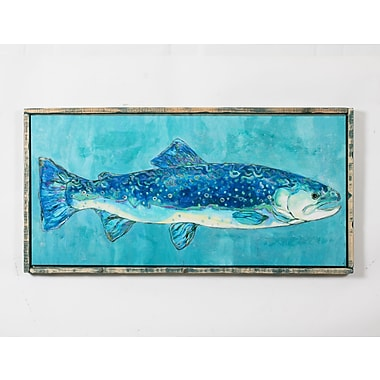 Blue Fish Canvas with Frame, 48