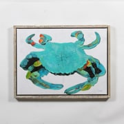 """Blue Crab Canvas with Frame, 31"""" x 2"""" x 24"""" (9741-WX3670-00)"""