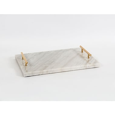 Marble Tray with Handle, Large, 15