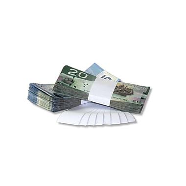 NSS – Lanières en papier Kraft blanc de 1,5 po, pour devises, bte/20 000