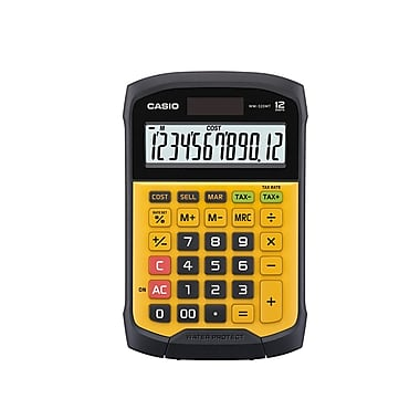 CASIO® - Calculatrice WM320MT, protection contre l'eau et la poussière