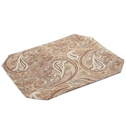 Pacific Table Linens Timeless Paisley Table Linens Reversible Placemat (Set of 2); Fawn / Kona
