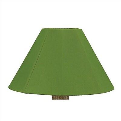 Latitude Run 20'' Sunbrella Empire Lamp Shade; Forest Green WYF078282148763