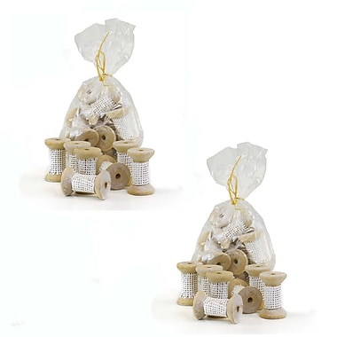 Ophelia & Co. Decorative Wooden Spool Sculpture (Set of 20)