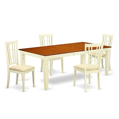 Darby Home Co Beesley 5 Piece Buttermilk/Cherry Dining Set