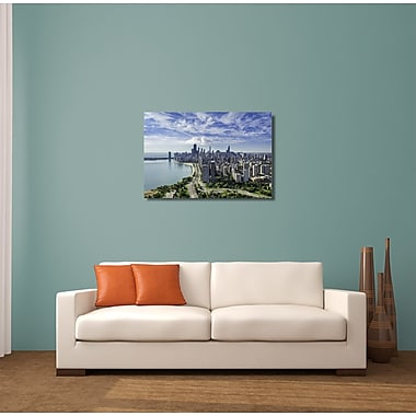 Latitude Run City Skylines 'Chicago Up Town' Photographic Print on Metal; 16'' H x 20'' W x 1.01'' D