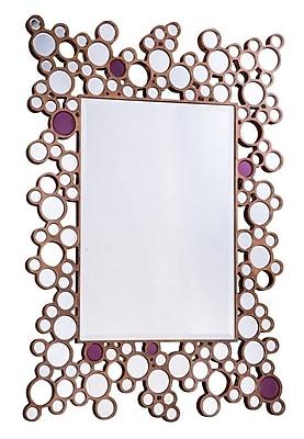 Latitude Run Brown Rectangle Wall Mirror