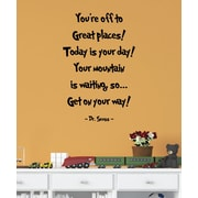 Belvedere Designs LLC You're Off To Great Places Quotes  Wall Decal