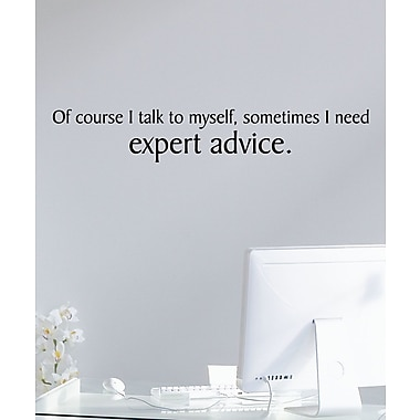 Belvedere Designs LLC Expert Advice Quotes Wall Decal