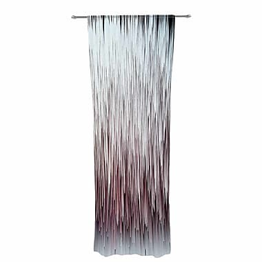 Ginkelmier Planet Pixel Rose Digital Decorative Striped Sheer Rod Pocket Curtain Panels (Set of 2)
